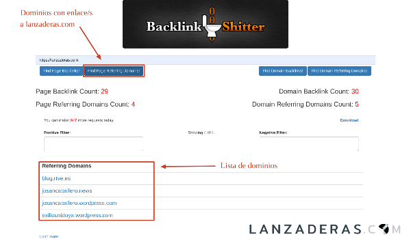 BackLink Shitter Herramiienta gratuita para encontrar blacklinks