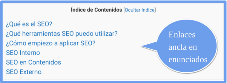 índice de contenidos con TOC+