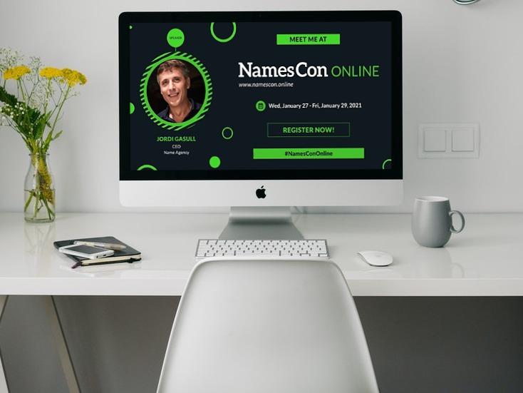 Mockup Jordi Gasull en NamesCon Online 2021