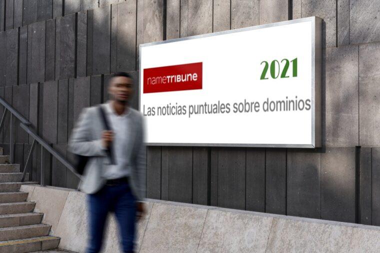 Mockup de la selección de noticias y contenidos de NameTribune en los primeros meses de 2021