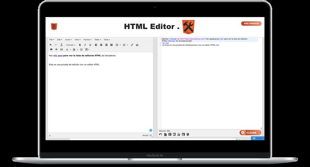 HTML Editor para hacer rápido el código que necesites de manera online